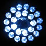 LED Flashlight. A 24-led flashlight, turned on Royalty Free Stock Photo