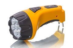 LED Flashlight with battery Royalty Free Stock Photo