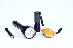 The LED flashlight Stock Photo