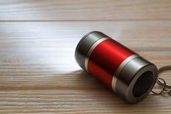 LED Flashlight Keychain. Royalty Free Stock Photos