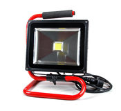 Led floodlight with stand  on white Stock Images