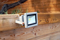 LED-Flutlicht, Stelle auf die Oberseite des Dachs Stockfotos