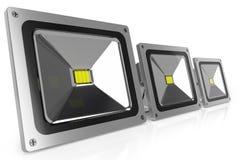 LED-Flutlichter 3d Stockfoto