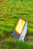 Led garden lamp. Led lawn lamp as garden lamp -  save electricity and  very eco friendly,outdoor light  landscape lamp projection lamp Royalty Free Stock Photography