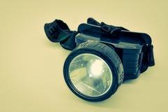 LED head lantern with elastic fixtures Stock Photo