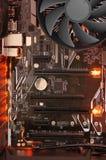 LED-illuminated circuit board royalty free stock image