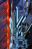 LED-illuminated circuit board royalty free stock photos