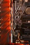 LED-illuminated circuit board royalty free stock photography