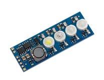 LED indicator panel Stock Photo