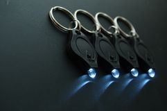 LED Keychain Micro Flashlights Stock Photos