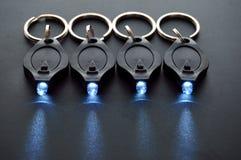 LED Keychain Micro Flashlights Stock Image