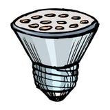 Led lamp. Illustration of a led lamp on white background Stock Photos