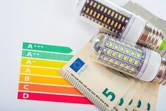 LED Lamp And Money Royalty Free Stock Image