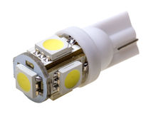 Led lamp for auto with 5 LEDs Stock Photos