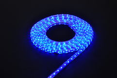Blue light led belt, led strip, waterproof blue LED light strips Royalty Free Stock Image