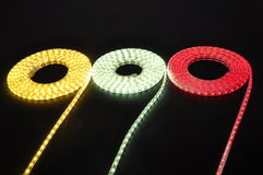 light led belt, led strip, waterproof  LED light strips Royalty Free Stock Photography