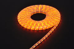 Orange light led belt, led strip, waterproof yellow LED light strips Stock Photography