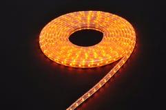 Orange light led belt, led strip, waterproof yellow LED light strips Stock Photography