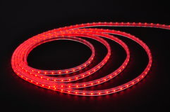 Led lamp belt,red light led belt, led strip, waterproof red LED light strips Royalty Free Stock Images