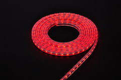 red light led belt, led strip, waterproof red LED light strips Royalty Free Stock Photo