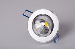 LED lamp. On gray background Stock Photo