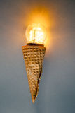 Led lamp in ice cream cone Stock Image