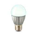 Led lamp. Illustration of colored led lamp with radiator Royalty Free Stock Images