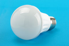 LED lamp isolated on the blue background Stock Photo