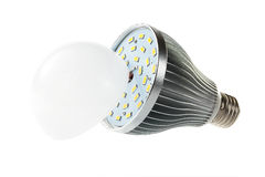 LED lamp with open hood. Clearly visible LEDs Stock Photography