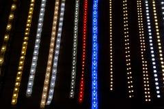 Led lamp strip. Multi color led lamp strip Stock Images