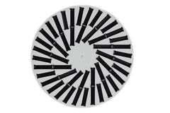LED lamp. Top view of round black and white LED lamp. Concept en royalty free stock photos