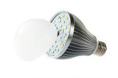 LED-Lampe mit offener Haube Stockfotografie