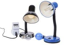 LED-Lampen ersetzen die alten Lampen stockfoto