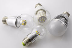 LED lamps E27  with a new  and  different lamp power technology Stock Images