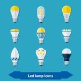 Led Lamps Flat Stock Photos