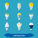 Led lamps flat Stock Photos