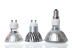 LED lamps on white Royalty Free Stock Image