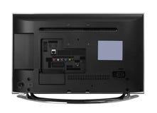 Led or lcd internet tv monitor. Windscreen led or lcd internet tv monitor isolated on white background stock image