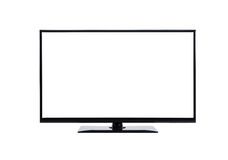 Led lcd tv monitor on white Royalty Free Stock Photo