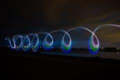 LED-Licht, das abstrakten Hintergrund malt Stockbilder