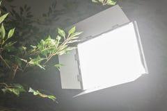 LED-lichttechnische Ausrüstung für Foto und Video Stockfotografie