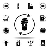 LED light, bulb, arrow icon . Set of alternative energy illustrations icons. Can be used for web, logo, mobile app, UI, UX
