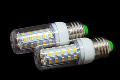 Led light bulb on background. With clipping path Stock Images