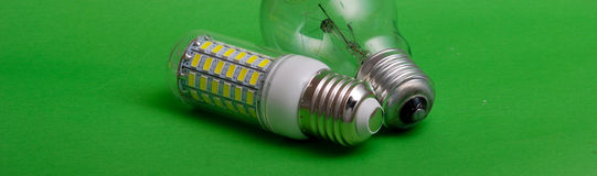 Led light bulb,clean energy concept, environment, Stock Photography