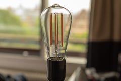 LED light bulb and energy saving. New LED light bulb and energy saving royalty free stock photo