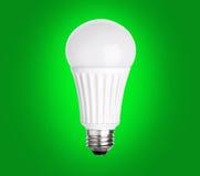 LED Light Bulb on green Stock Photo
