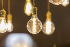 LED light bulb hang from ceiling Stock Image
