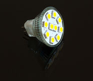 LED light bulb lit from above Stock Photography