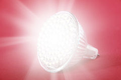 LED light bulb spot light Royalty Free Stock Photos