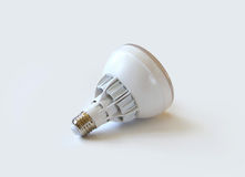 LED light bulb on white background. Image of an energy saving LED light bulb on white background Royalty Free Stock Photography